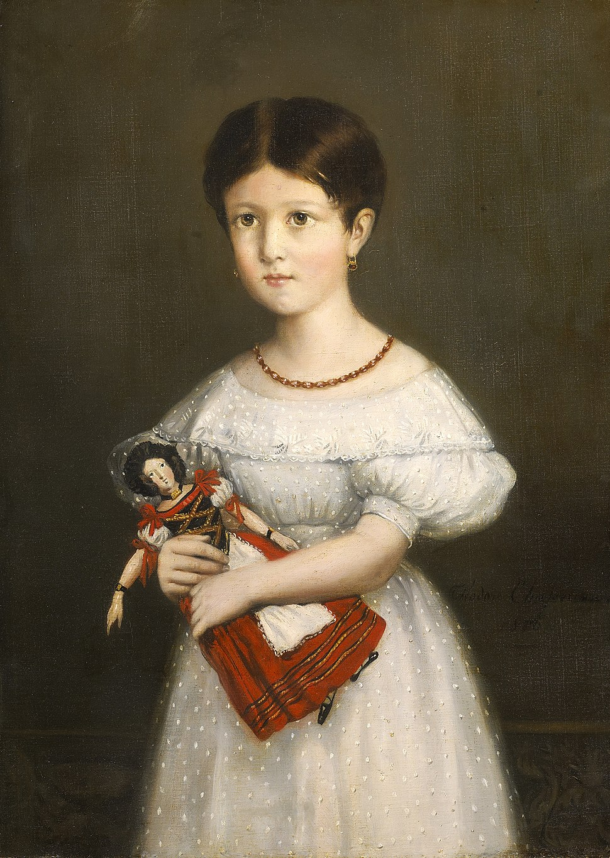 L'Enfant & la poupée, portrait de Laure Stéphanie Pierrugues par Théodore Chassériau (1836)