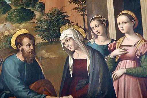 L'Incontro di San Gioacchino e Sant'Anna alla Porta Aurea particolare