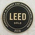 LEED Gold 2016 plaque, Serrano 55 Madrid (cropped).jpg