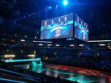 The Staples Center in Los Angeles as used for the 2016 League of Legends  World Championship finals