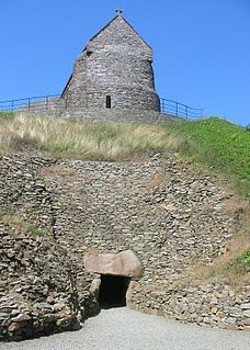 La Hougue Bie historic site, with museum, in the Parish of Grouville, Jersey