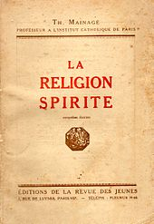Couverture de l'ouvrage catholique officiel d'opposition au spiritisme de 1921.
