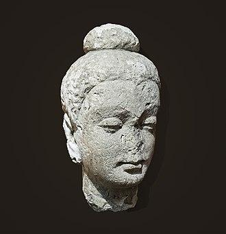 Hadda, Afghanistan - Image: Labit Buddah méditant Hadda Afghanistan Art gréco bouddhique D 69 2