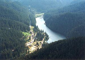 Cheile Bicazului-Hășmaș National Park - Image: Lacul rosu 1