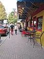 Lafayette LA Nov2013 Jefferson St Sidewalk Tables.JPG