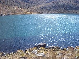 General Juan Pablo Peñaloza National Park - Image: Laguna Grande cristalina