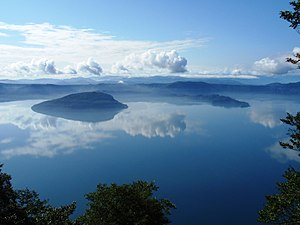 Lake Towada - Image: Lake Towada from Ohanabe 2008