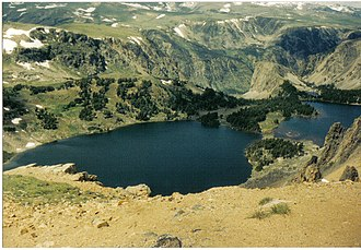 Beartooth Mountains - Twin Lakes in the Beartooth Mountains