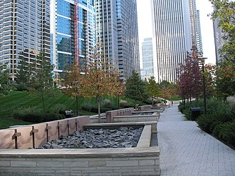 Lakeshore East - Park fountains