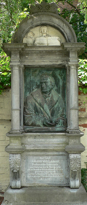 Johann von Lamont - Tomb at the Cemetery of St. Georg, Munich - Bogenhausen