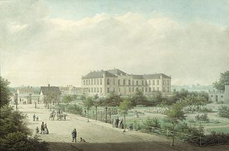 Bülowsvej - Bülowsvej with the newly built Agricultural College in about 1860
