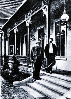 Prince Konrad of Hohenlohe-Schillingsfürst - Prince Hohenlohe with Georg Wassilko von Serecki in Berehomet, about 1903/04