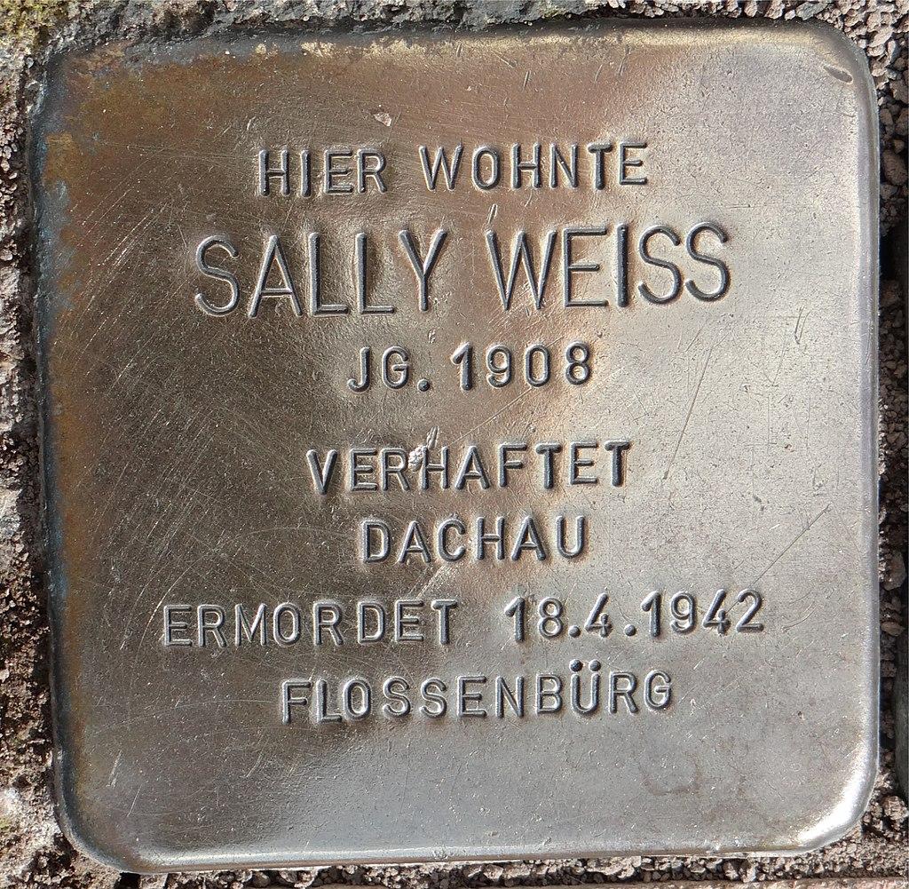 Langenlonsheim Stolperstein Schulstraße 12 Sally Weiss.jpg