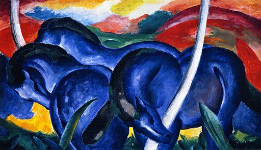Large Blue Horses