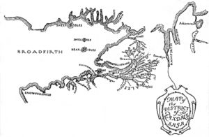 Laxdæla saga - Map of the region of the Laxdæla saga