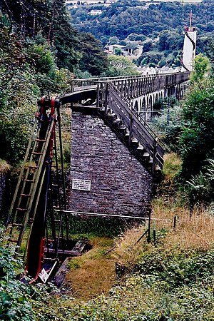 Laxey Mine - The inverted 'T' rocker, part of the pumping apparatus which pumped the water from the Laxey Mine, powered by the Laxey Wheel