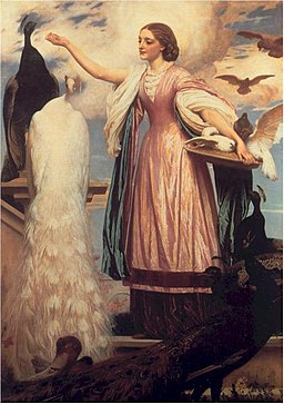 Frederick Leighton, A Girl Feeding Peacocks, 7862-1863, Wikimedia Commons