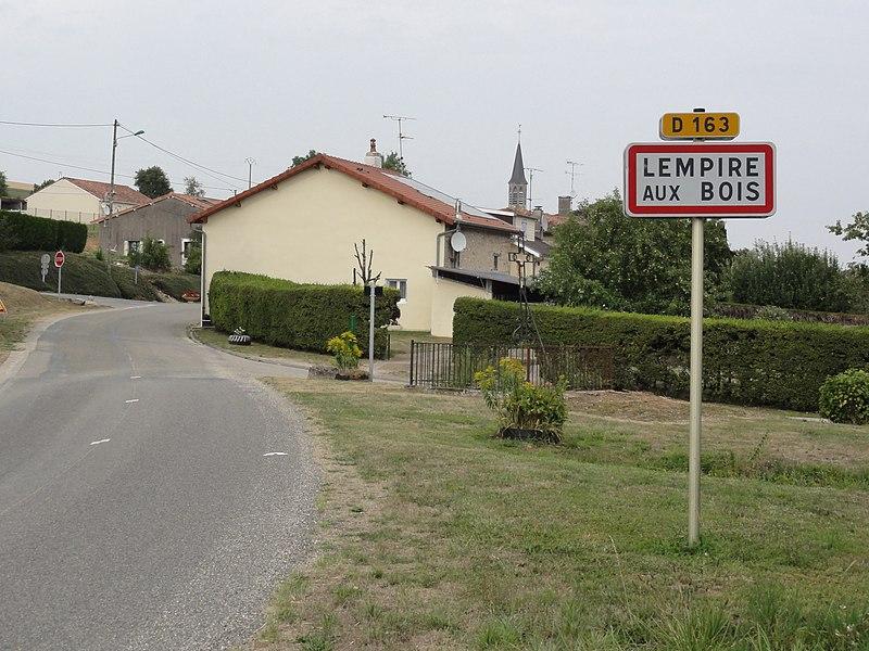 Lempire-aux-Bois (Meuse) city limit sign