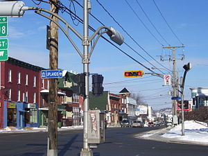Lennoxville, Quebec - Corner of Queen and College streets in downtown Lennoxville
