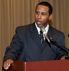 Lenny McAllister speaking in 2009.jpg