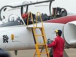 Li Jun-Ting, ROCAF Major, Pilot of Thundertigers AT-3 0842 Leaving Aircraft 20161126e.jpg