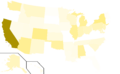 Libertarian Party presidential election results, 1984, raw vote count (United States of America).png