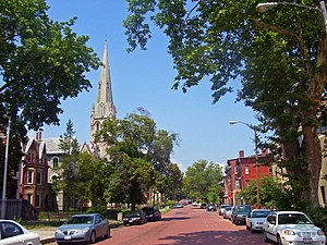 Montgomery–Grand–Liberty Streets Historic District - Looking north on Liberty Street, 2007