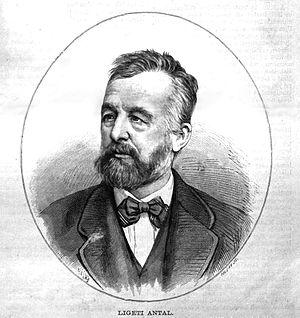 Antal Ligeti - Antal Ligeti; portrait by Zsigmond Pollák (1883)