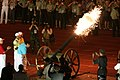Lighting of the torch at the opening ceremony of the Military World Games, in Hyderabad on October 14, 2007.jpg