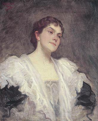 George Henschel - The singer Lady Lillian June Henschel, née Bailey (Julius Rolshoven, 1896)