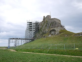 Lindisfarne Castle - The castle during the 2016-2018 renovation