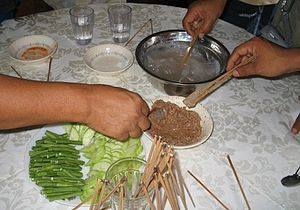 Melanau people - Linut is one of the traditional food of the Melanaus.