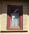 Listed house window, 43 Gróf Teleki Street, Gyömrő, Hungary.jpg