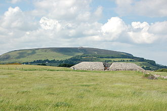 Knocknarea - Listoghil (part of Carrowmore) with Knocknarea and Meabh's Cairn in the background
