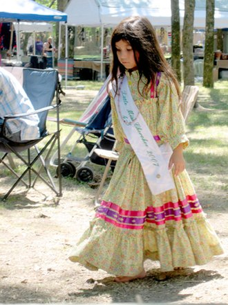 Cherokee society - Little Miss Cherokee 2007, Park Hill, Oklahoma