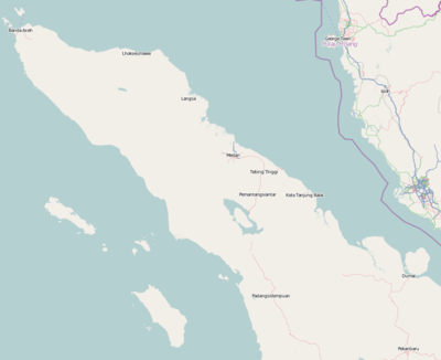 Location map Indonesia Sumatra North