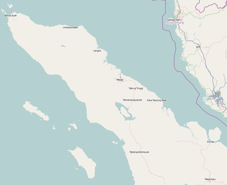 Medan is located in Northern Sumatra