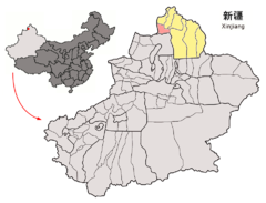 Location of Jeminay within Xinjiang (China).png