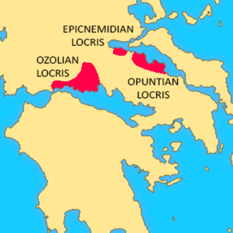 Locris - Map showing the location of Locris.