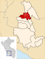 Location of the province Huamanga in Ayacucho.svg