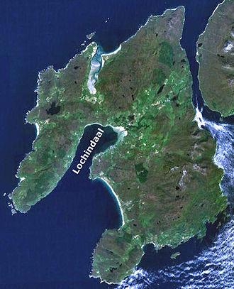 Loch Indaal - Image: Lochindaalmap