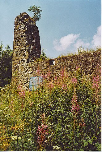 Clan Johnstone - Lochwood Tower (Lochwood Castle) in Annandale, historic seat of the chief of Clan Johnstone.