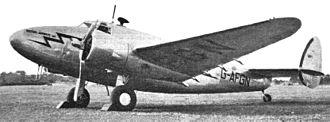 British Airways Ltd - Lockheed 14 (G-AFGN) of British Airways Ltd at Heston, September 1938