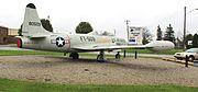Lockheed T-33A on display at Jackson County Airport Michigan