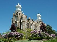 The Logan Utah LDS Temple.