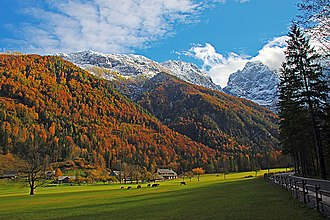 Logar Valley (Slovenia) - The Logar Valley in autumn