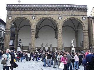 Loggia dei Lanzi building in Florence, Italy