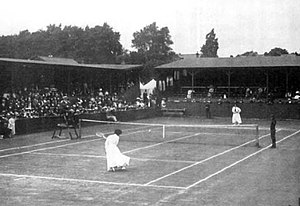 Tennis at the 1908 Summer Olympics – Women's outdoor singles - Final of the Women's singles event between Dorothea Lambert Chambers and Dora Boothby