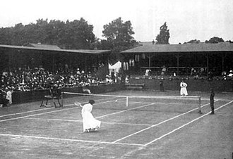 All England Lawn Tennis and Croquet Club - Finals of the Ladies' lawn tennis singles tournament at the 1908 Olympics, at the Club