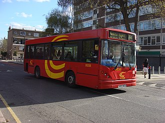 London Buses route 394 - CT Plus Caetano Slimbus bodied Dennis Dart SLF in April 2009